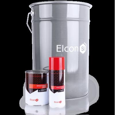 Краска Elcon термостойкая 600°С серебро (аэрозоль)