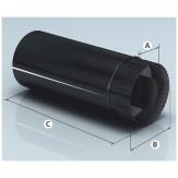 Дымоход Agni сендвич-труба эмалированная, L=0,5 м, d 115*200мм