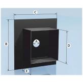 Дымоход Agni проходная разделка с полимерным покрытием d-115