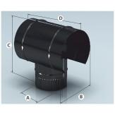 Дымоход Agni зонт, эмалированный d 115 мм