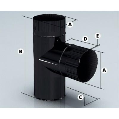 Дымоход Agni тройник эмалированный  90° d-200