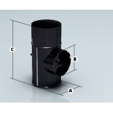 Дымоход Agni шибер эмалированный d-120 мм