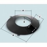 Дымоход Agni фартук, с полимерным покрытием,  d-115