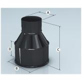 Дымоход Agni переход эмалированный d 110*115мм