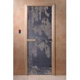 Дверь для саун DoorWood Березка синий жемчуг 190*70