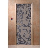 Дверь для саун DoorWood Венеция синий жемчуг матовое 190*70
