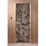Дверь для саун DoorWood Венеция черный жемчуг матовое 190*70