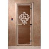 Дверь для саун DoorWood Версаче бронза матовое 190*70