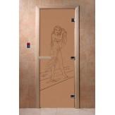 Дверь для саун DoorWood Дженифер бронза матовое 190*70