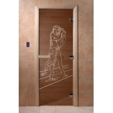 Дверь для саун DoorWood Дженифер бронза  190*70