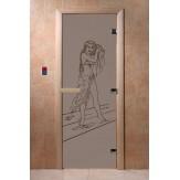 Дверь для саун DoorWood Дженифер черный жемчуг матовое 190*70