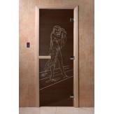 Дверь для саун DoorWood Дженифер черный жемчуг 190*70