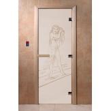 Дверь для саун DoorWood Дженифер сатин 190*70