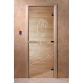 Дверь для саун DoorWood Дженифер прозрачное 190*70