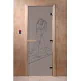 Дверь для саун DoorWood Дженифер синий жемчуг матовое 190*70
