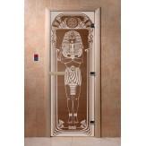 Дверь для саун DoorWood Египет бронза 190*70