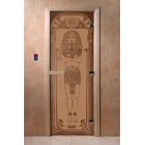 Дверь для саун DoorWood Египет бронза матовое 190*70