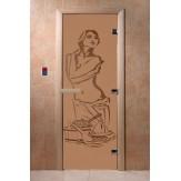Дверь для саун DoorWood Искушение бронза матовое 190*70