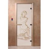 Дверь для саун DoorWood Искушение сатин 190*70