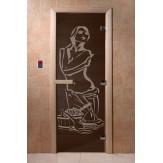 Дверь для саун DoorWood Искушение черный жемчуг 190*70