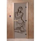 Дверь для саун DoorWood Искушение черный жемчуг матовое 190*70