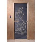 Дверь для саун DoorWood Искушение синий жемчуг 190*70