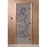 Дверь для саун DoorWood Искушение синий жемчуг матовое 190*70