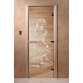 Дверь для саун DoorWood Искушение прозрачное 190*70
