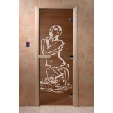 Дверь для саун DoorWood Искушение бронза 190*70