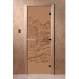 Дверь для саун DoorWood Китай бронза матовое190*70