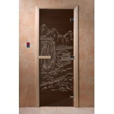 Дверь для саун DoorWood Китай черный жемчуг 190*70