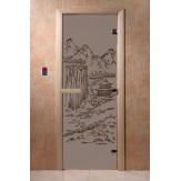 Дверь для саун DoorWood Китай черный жемчуг матовое 190*70