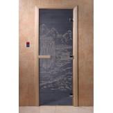 Дверь для саун DoorWood Китай синий жемчуг 190*70