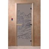 Дверь для саун DoorWood Китай синий жемчуг матовое 190*70