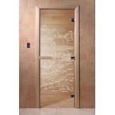 Дверь для саун DoorWood Китай прозрачное 190*70