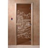 Дверь для саун DoorWood Китай бронза 190*70