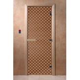 Дверь для саун DoorWood Мираж бронза матовое 190*70