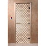 Дверь для саун DoorWood Мираж сатин 190*70