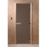 Дверь для саун DoorWood Мираж черный жемчуг 190*70