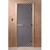 Дверь для саун DoorWood Мираж синий жемчуг 190*70