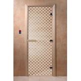 Дверь для саун DoorWood Мираж прозрачное 190*70
