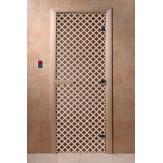 Дверь для саун DoorWood Мираж бронза 190*70