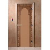 Дверь для саун DoorWood Арка восточная бронза матовое 190*70