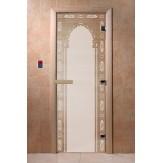 Дверь для саун DoorWood Арка восточная бронза 190*70