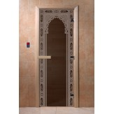 Дверь для саун DoorWood Арка восточная черный жемчуг 190*70