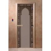 Дверь для саун DoorWood Арка восточная черный жемчуг матовое 190*70