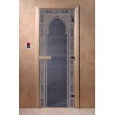 Дверь для саун DoorWood Арка восточная синий жемчуг 190*70