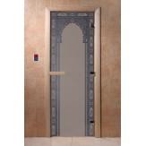 Дверь для саун DoorWood Арка восточная синий жемчуг матовое 190*70