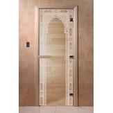 Дверь для саун DoorWood Арка восточная прозрачное 190*70