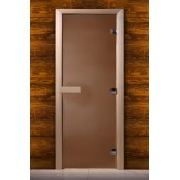 Дверь для саун DoorWood бронза матовое 180*60